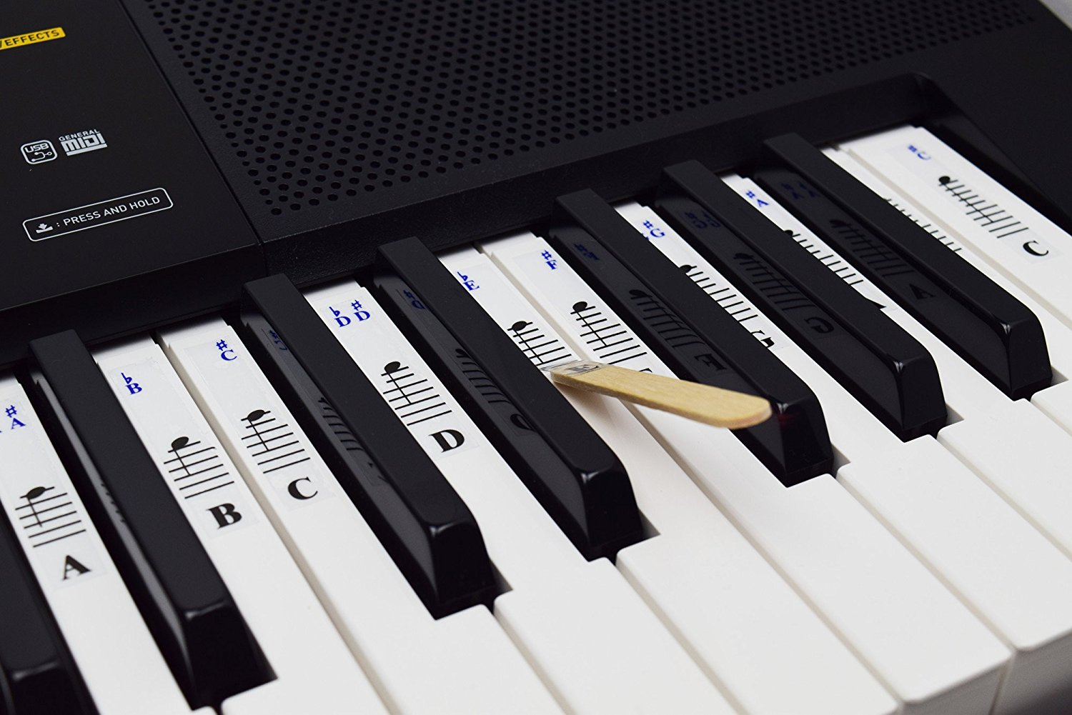 Piano Stickers For 49 61 76 88 Key Keyboards Transparent And Removable Quality Music Gear