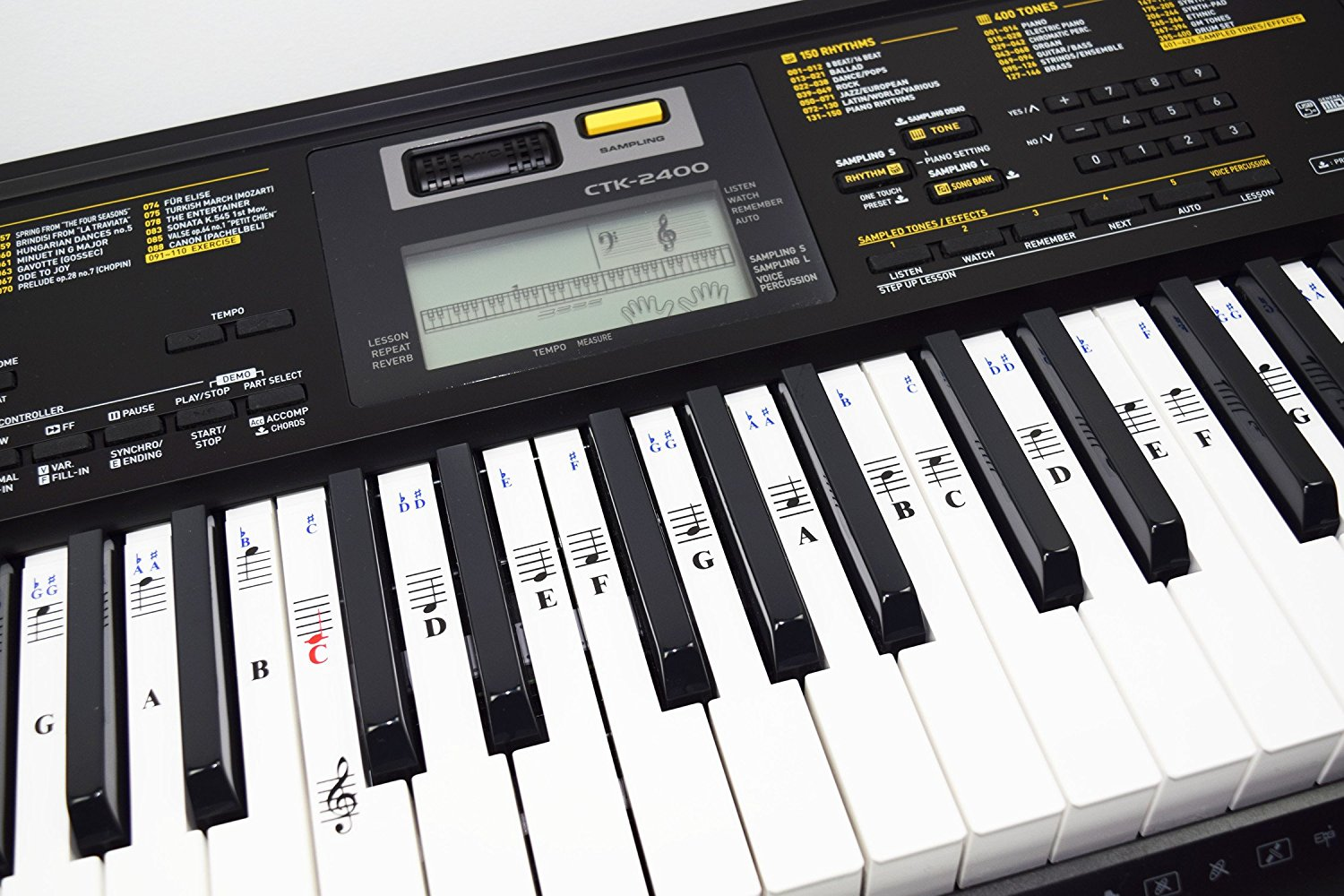 Piano Stickers For 49 61 76 88 Key Keyboards