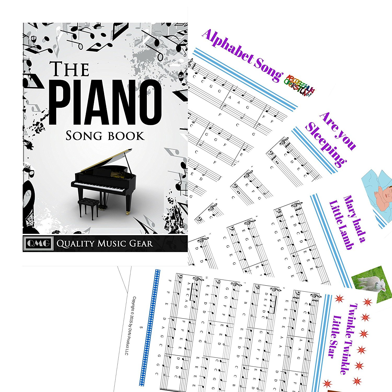This is a picture of Astounding Piano Key Stickers Printable