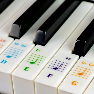 e3e8ee0e840 Color Piano Stickers for 49 61  76 88 Key Keyboards – Transparent and  Removable