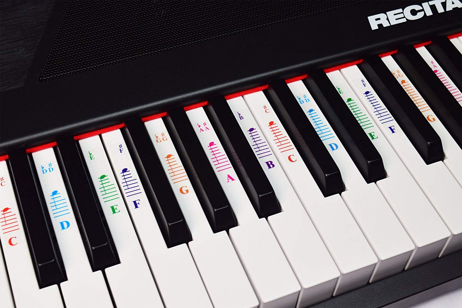 Piano Stickers For All White Keys 49 61 76 88 Key